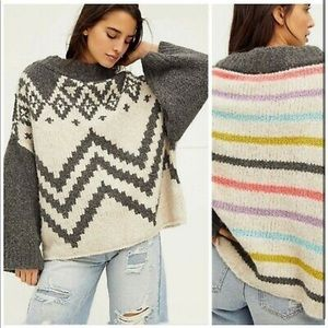 NWT Nordic Rainbow Striped Sweater